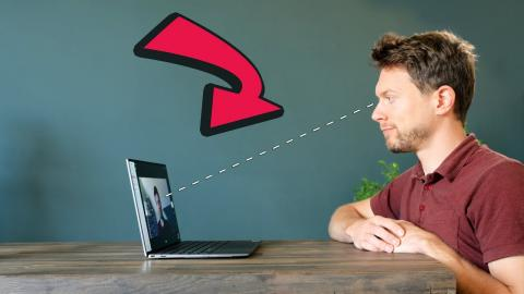Webcam mod that enables eye-contact conversation