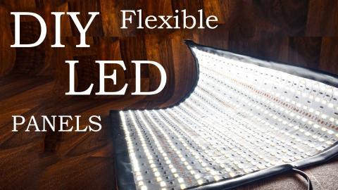How to Make Flexible LED Panels (DIY Flex Lights!)
