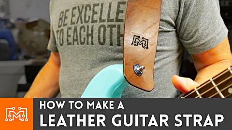 Making a Leather Guitar Strap // Leatherworking