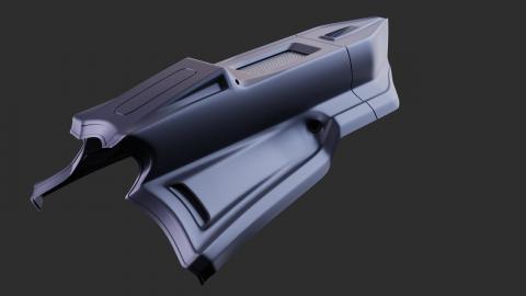 Hard Surface Design Timelapse   Practice #5 Flying Ship   Blender 2.9