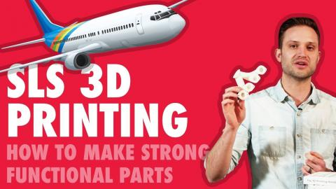 Selective Laser Sintering (SLS) 3D Printing: How to make strong functional parts (HANG TEST)