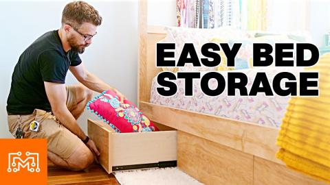 Adding Storage To Any Bed // Woodworking
