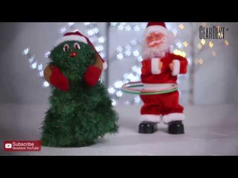 Santa Claus Hula Hoop Dancer Toy Musical Sway Christmas Gift - Gearbest.com