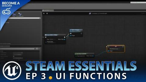 UI Functionality - #3 Unreal Engine 4 Steam Multiplayer Essentials