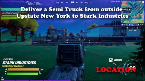 Deliver a Semi Truck from outside Upstate New York to Stark Industries - Location