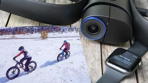 Hands-on: Skydio R1 with Apple Watch Control Test // Fat Biking Canada!
