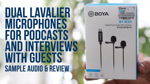 BOYA BY-M3D Dual microphone for podcast and interviews with guests! Giveaway competition Included