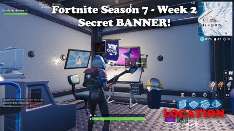 Fortnite - Season 7 - Week 2 - Secret BANNER Location and Loading Screen