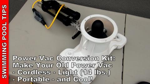 Power Vac Conversion Kit - Make Your Old Power Vac Cordless, Light Weight (14 Lbs.) and Portable!