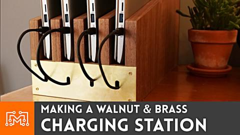 Making a Charging Station from Walnut & Brass