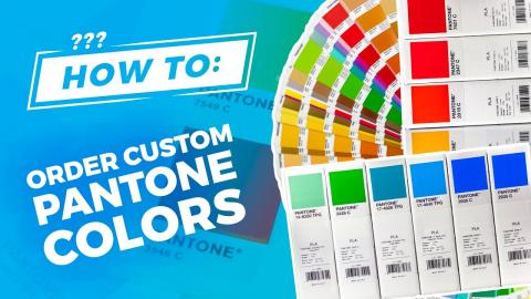 How To Order Custom Filament Colors with FiberForce Pantone® Certified PLA