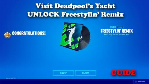 Visit Deadpool's Yacht - Unlock The Freestylin' Remix Music - Fortnite