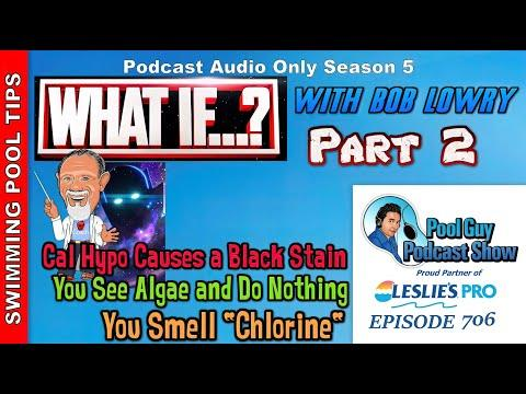 What If? With Bob Lowry Part 2 of 2 - You Add Cal Hypo and A Black Stain Appears & More!