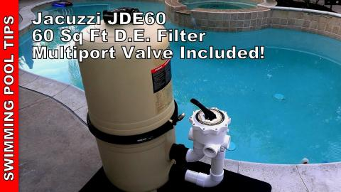 Jacuzzi JDE60 60 sq ft D.E. Filter, Multiport Valve Included with a 3 Year Warranty!