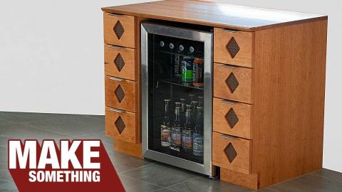 Making a Custom Beverage Bar and Cabinet | Woodworking Project