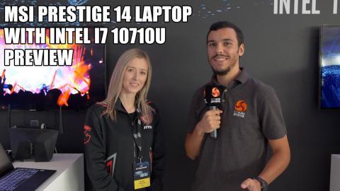 MSI Prestige 14 LAPTOP with Intel i7 10710U PREVIEW