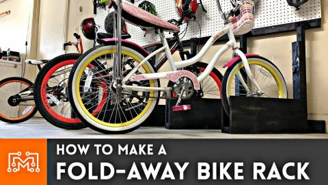 How to Make a Fold Away Bike Rack // Woodworking
