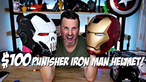 $100 Punisher Iron Man Replica Helmet Review   Hasbro Toys Marvel Legends Unboxing