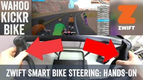 Zwift Rolls out Steering to Wahoo KICKR Bike: Quick hands-on!