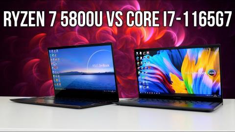 ASUS ZenBook 13 OLED & Flip S - Ryzen 7 5800U vs i7 1165G7