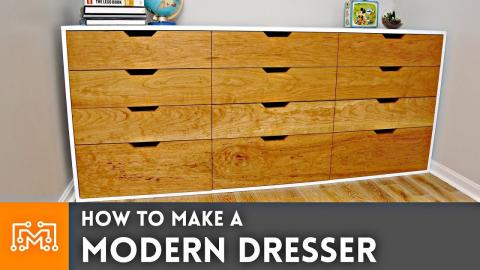 How to Make a Modern Dresser // Woodworking