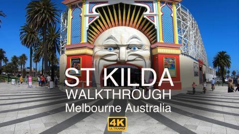 4k Walkthrough St Kilda Melbourne Australia - Post Pandemic, Signs of Life!