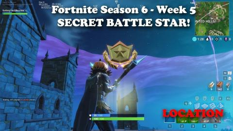 Fortnite - Season 6 - Week 5 - Secret Battle Star Location and Loading Screen