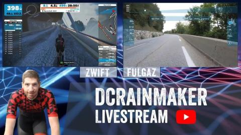 Alpe d'Huez Side by side: Zwift vs FulGaz Live + Q&A!