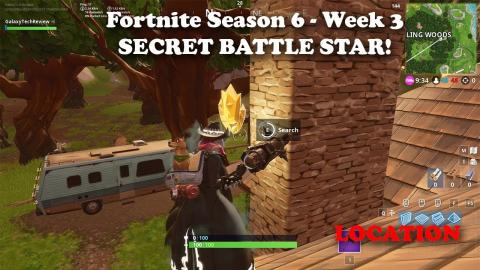 Fortnite - Season 6 Week 3 - Secret Battle Star LOCATION!