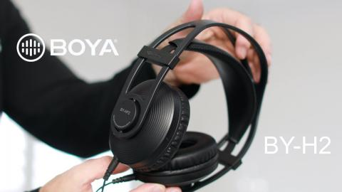 Master your audio like a Pro with the BOYA HP2 Monitor Headphones!