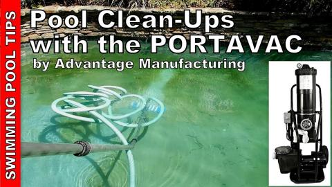 Using a Portable Filtration System for a Green Pool, Wind and Dirt Pool Clean-Up: PORTAVAC Featured