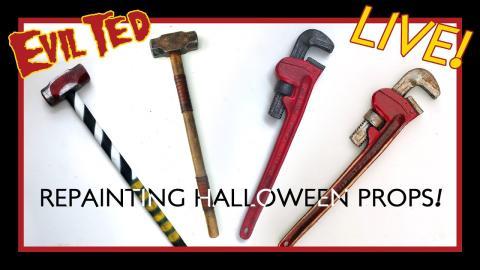 Repainting Halloween Props