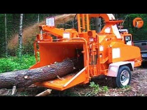 SCARY Machine Chews BIG trees like Grass