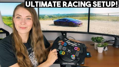 Ultimate Triple Monitor RACING PC Setup with Briony !