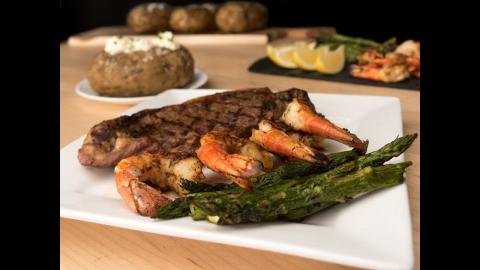 Char-Broil Recipes: Grilled Surf & Turf: Shrimp Skewers and Sirloin Steak