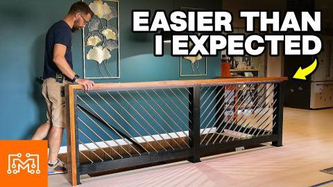 How To Make a Modern Stair Railing   I Like To Make Stuff