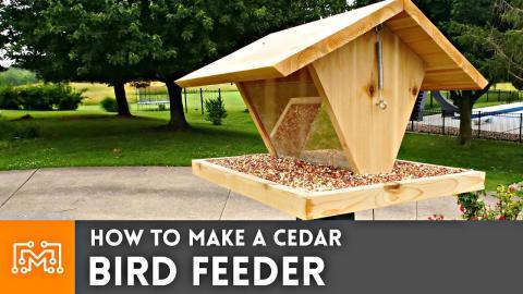 How to Make a Bird Feeder // Woodworking (noAd)