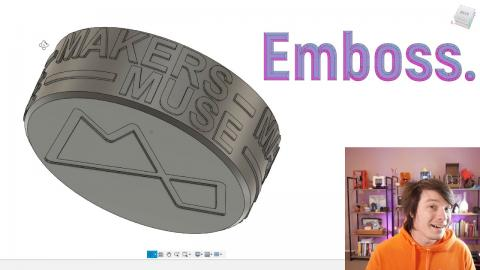 Wrap Text in Fusion 360 using Emboss (FINALLY!!!)
