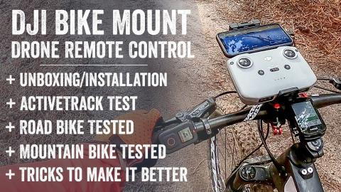 DJI Drone Controller Bike Mount Review: Tested and battered
