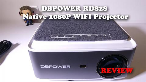 DBPOWER RD828 Native 1080P WIFI Projector REVIEW