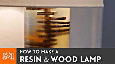 How to Make a Resin & Wood Lamp // Woodturning
