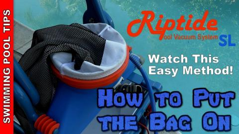 How to Put the New Riptide Bags On Your Vacuum -Very Easy!