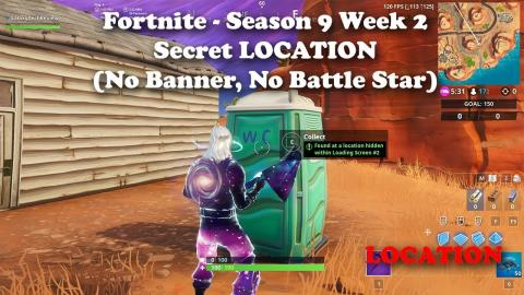 Fortnite - Season 9 - Week 2 - Battle Star or Banner (it's neither) LOCATION