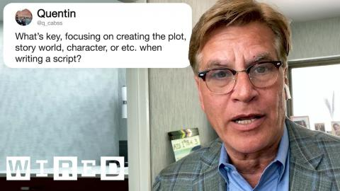 Aaron Sorkin Answers Screenwriting Questions From Twitter | Tech Support | WIRED