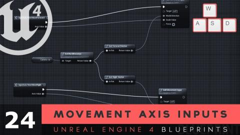 Movement Axis Inputs - #24 Unreal Engine 4 Blueprints Tutorial Series