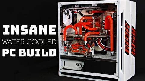 INSANE Custom Water Cooled Gaming PC Build -Time Lapse