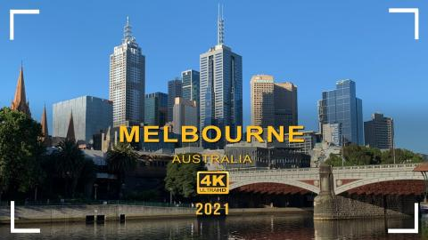 4k Melbourne Walkthrough Video From the Arts Centre to Bourke Street - 60FPS