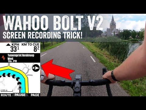 How To Screen Record Your Wahoo BOLT V2
