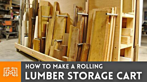 How to Make a Rolling Lumber Storage Cart // Woodworking