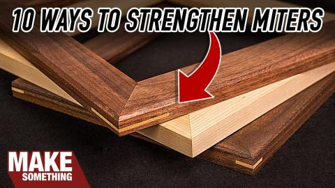 10 Ways to Reinforce Mitered Corners in Picture Frames.